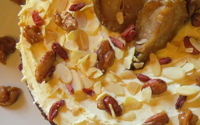 SPICY PEAR AND SWEET POTATO CAKE